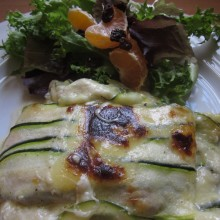 Baked Zuchinni Portobello With Cheese