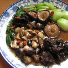 Braised Mixed Mushrooms With Bok Choy