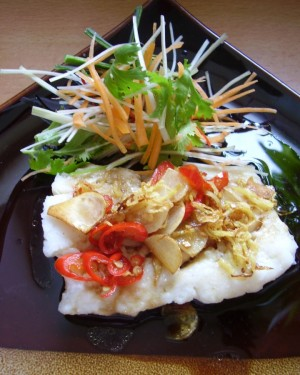 Steamed Cod With Chilli Ginger
